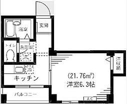 東京都板橋区弥生町の賃貸マンションの間取り