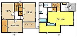 [一戸建] 愛知県名古屋市西区山木1丁目 の賃貸【愛知県/名古屋市西区】の間取り