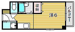 大阪府茨木市駅前1丁目の賃貸マンションの間取り