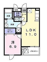 東京都清瀬市下清戸2丁目の賃貸マンションの間取り