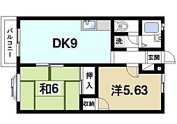 大和池田ハイツ[2階]の間取り