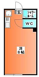東京都北区東十条2の賃貸アパートの間取り