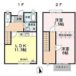 leafy(リーフィ) A・B[1階]の間取り