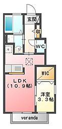 サンプレイステクノC棟[1階]の間取り