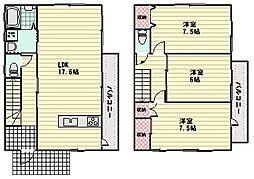 [一戸建] 広島県広島市安佐南区祇園8丁目 の賃貸【/】の間取り