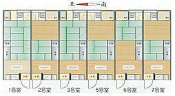 野崎アパート桂荘[2号室]の間取り