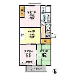 ツインビレッジ B[2階]の間取り