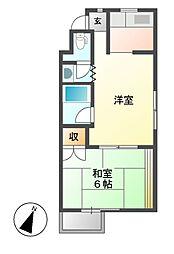 レジデンシア鶴舞[2階]の間取り