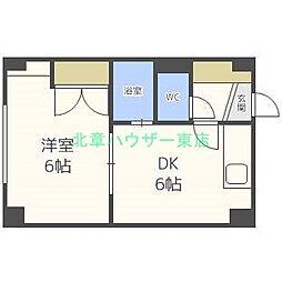 北海道札幌市東区北四十条東16丁目の賃貸マンションの間取り