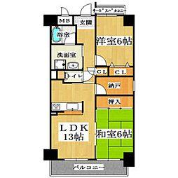 WILL21(ウィル21)[2階]の間取り
