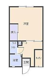 東京都多摩市愛宕4丁目の賃貸アパートの間取り