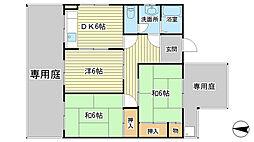シティハウス都倉[1階]の間取り