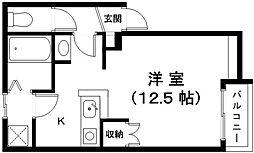 滋賀県近江八幡市西本郷町西の賃貸アパートの間取り