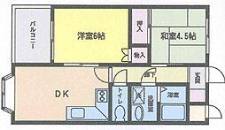 福岡県北九州市小倉南区東水町の賃貸マンションの間取り