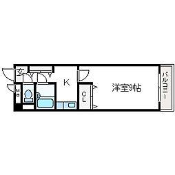 ロイヤル高槻[8階]の間取り