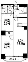 北海道札幌市中央区南十一条西18丁目の賃貸マンションの間取り
