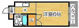 大阪府堺市堺区中之町西1丁の賃貸マンションの間取り