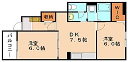 フォレスタB[2階]の間取り