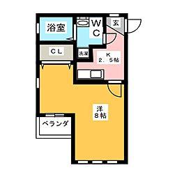 dot竹生[2階]の間取り