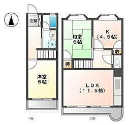 コートハウス2CV[2階]の間取り