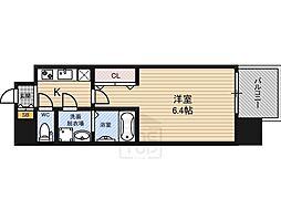 レジュールアッシュ大阪城北[3階]の間取り