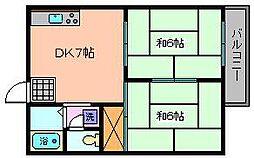 ガーデンハイツ高野台[C202号室]の間取り