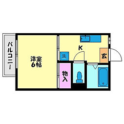 高良山コーポ[101号室]の間取り