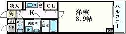 サムティ本町東レジックス[802号室]の間取り