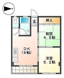 マンション松屋[3階]の間取り