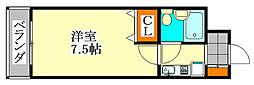 TWIN HOTARUNO I[3階]の間取り