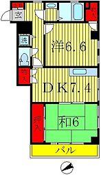 クリスタルSUN梅島[303号室]の間取り