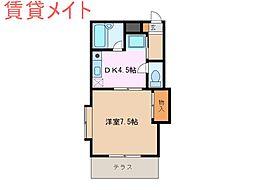 コーポカモン[1階]の間取り