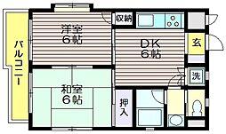 ルーラルコート仙川[2階]の間取り