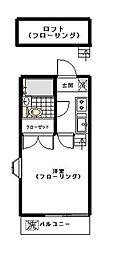 サンライズ新宿[203号室]の間取り