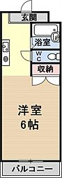 プリマベーラ瀬田[203号室号室]の間取り