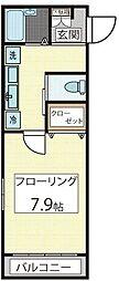えのきどハイツ[1階]の間取り