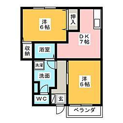 プチアドバンス[1階]の間取り