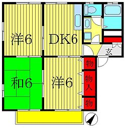 マハナイム[2階]の間取り