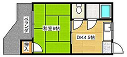 コーポラス松井[3階]の間取り