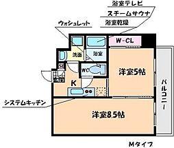 学生会館 Grand E'terna大阪[5階]の間取り