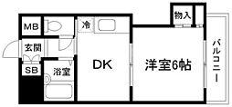 ローズコーポ新大阪7[8階]の間取り