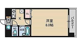 エクセレント上新12[4階]の間取り