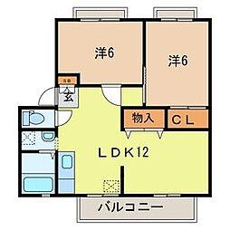サンガーデン加倉B棟[2階]の間取り