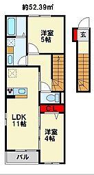 G-style 2階2LDKの間取り