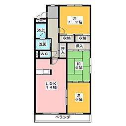 ハビテーション[1階]の間取り