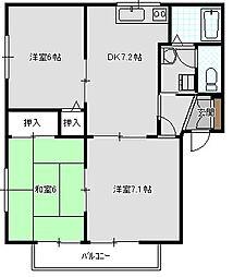 アクセスSK[B棟 101号室号室]の間取り