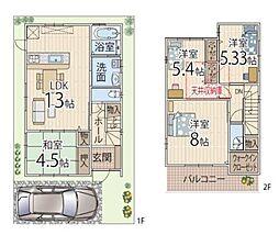 阪急京都本線 富田駅 徒歩15分 4LDKの間取り