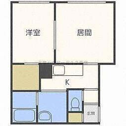 北海道札幌市中央区北七条西19丁目の賃貸マンションの間取り