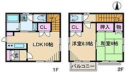 [一戸建] 東京都北区滝野川1丁目 の賃貸【東京都 / 北区】の間取り