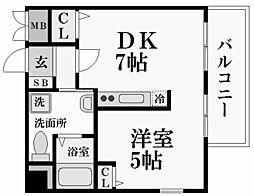 ダイドーメゾン阪神西宮[10階]の間取り